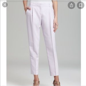 Theory Rina Crop Silk Pants Trousers Pleated SZ 4